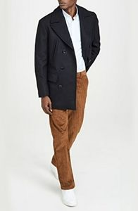 Calvin Klein Wool Blend Double Breasted Peacoat